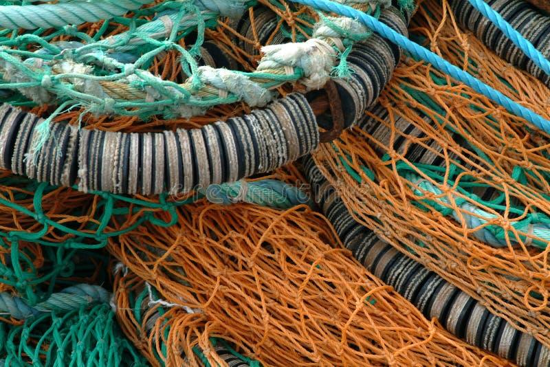 Redes de pesca foto de archivo