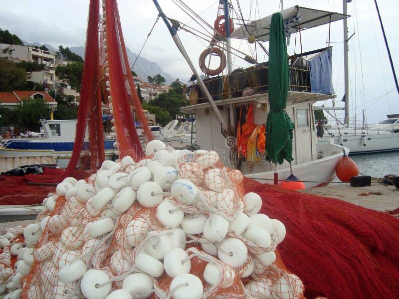 Redes de pesca imágenes de archivo libres de regalías