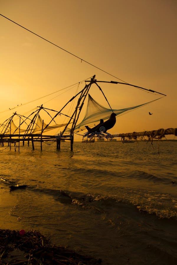 Redes de pesca chinas. fotografía de archivo libre de regalías