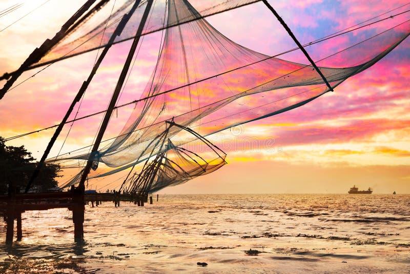 Redes de pesca chinas fotografía de archivo