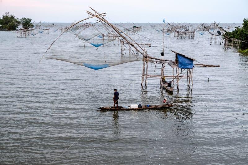 Redes de pesca chinas fotos de archivo