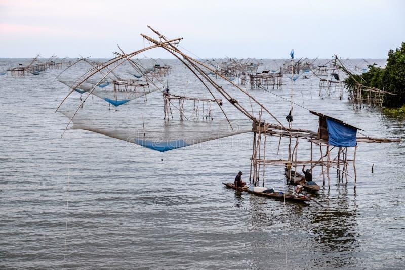 Redes de pesca chinas fotos de archivo libres de regalías