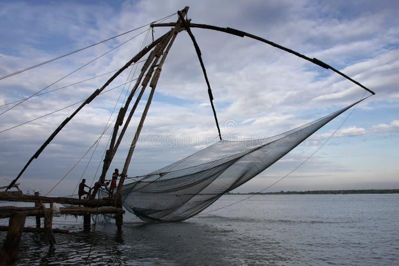 Redes de pesca chinesas imagens de stock