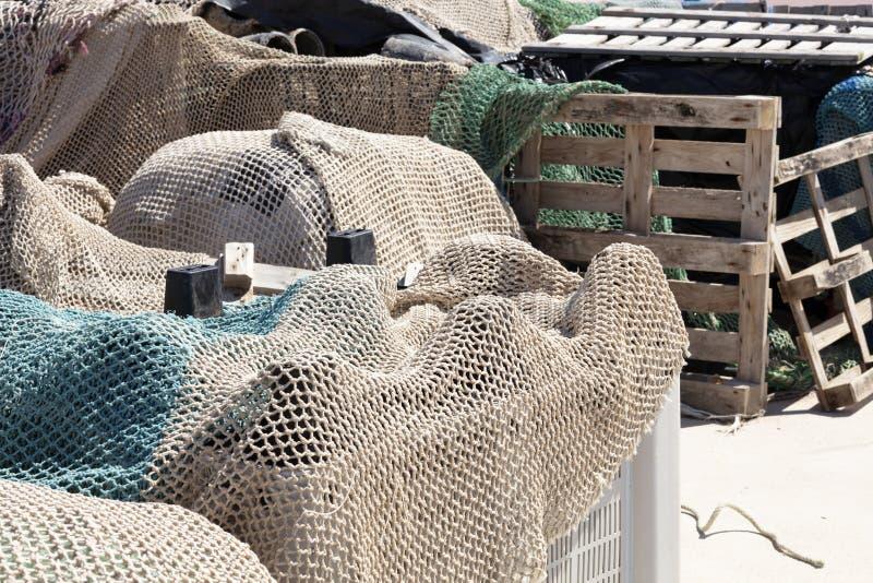 Redes de pesca prontas imagem de stock