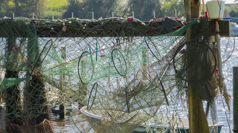 Redes de pesca y trampas de los pescados imagen de archivo libre de regalías