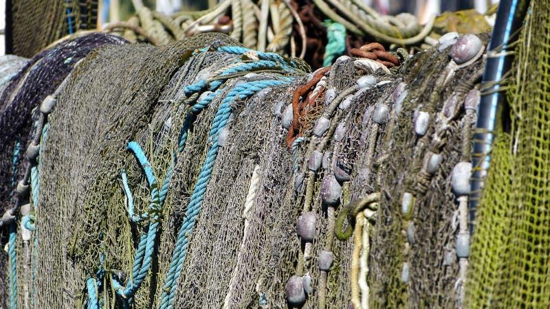 Redes de pesca y trampas de los pescados imágenes de archivo libres de regalías