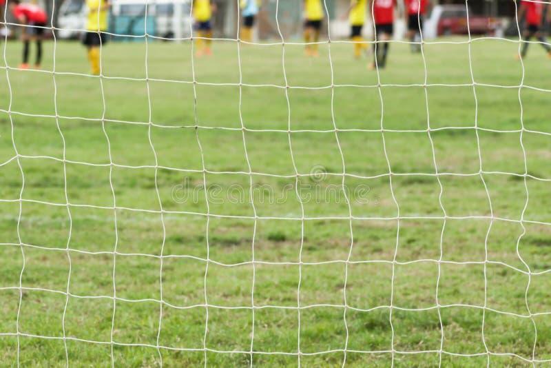 Redes do objetivo do futebol fotos de stock royalty free
