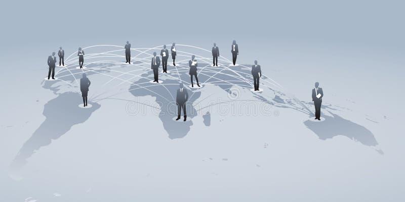 Redes internacionales stock de ilustración