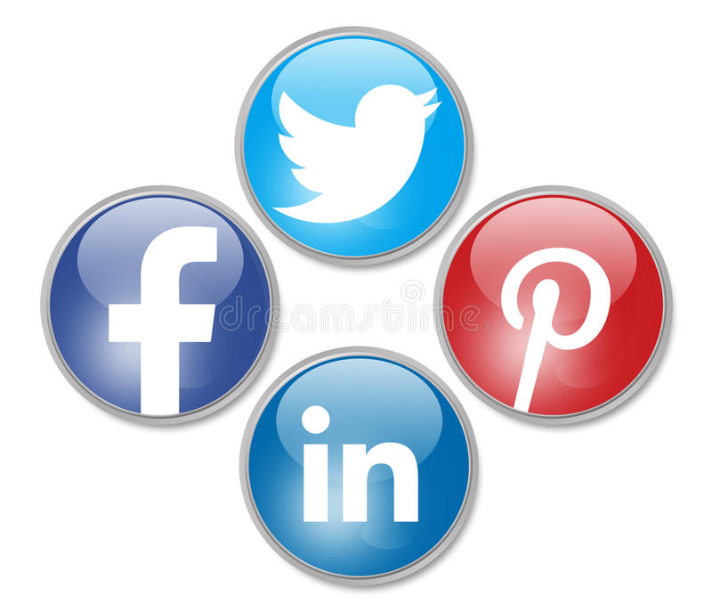 Redes sociais ilustração stock