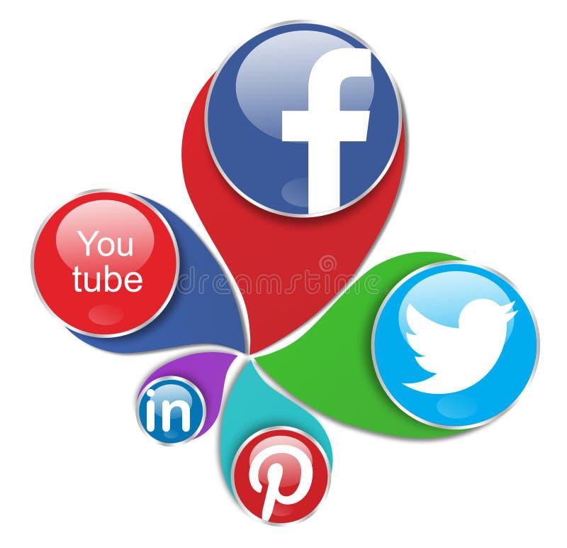 Redes sociais ilustração do vetor