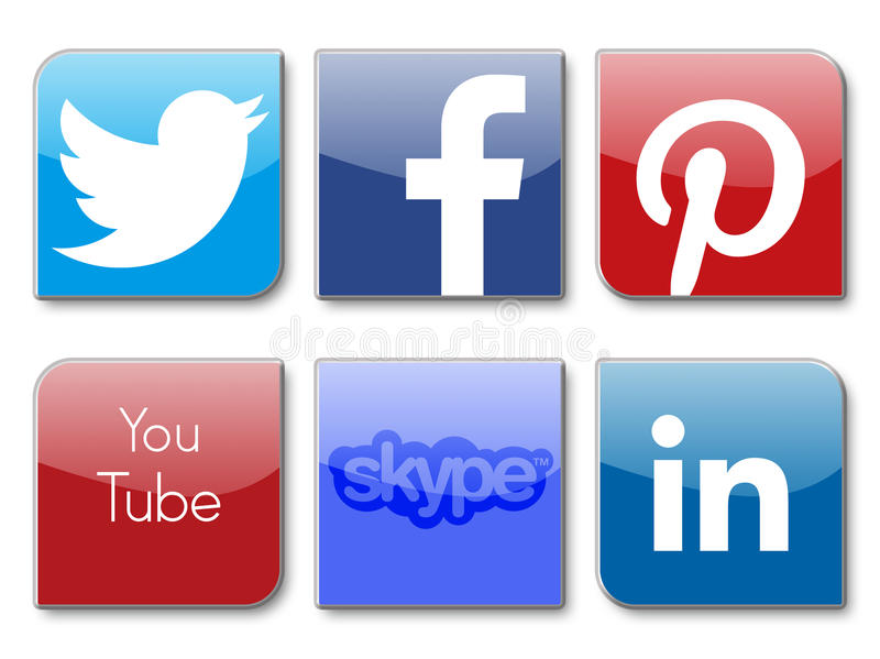 Redes sociais ilustração royalty free