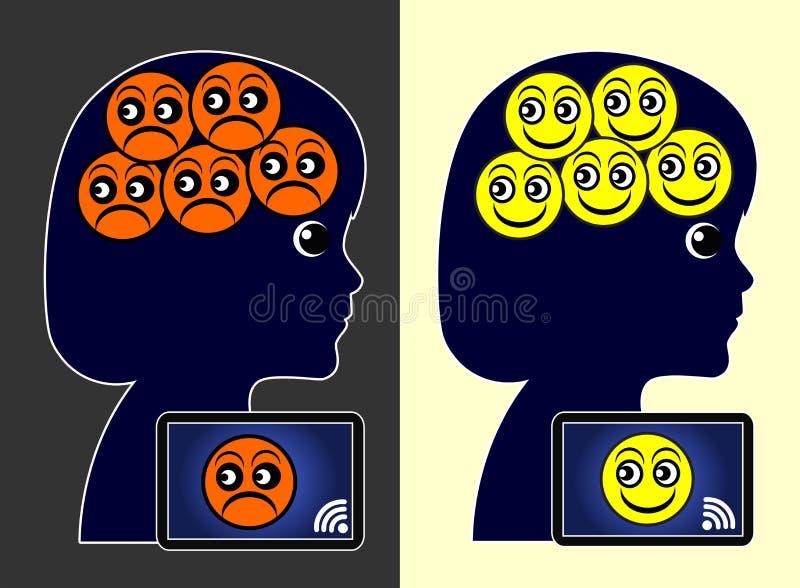 Redes y bienestar sociales libre illustration