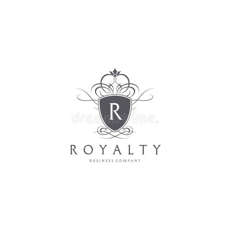 redevance Bouclier avec le logo de lettre de R illustration de vecteur