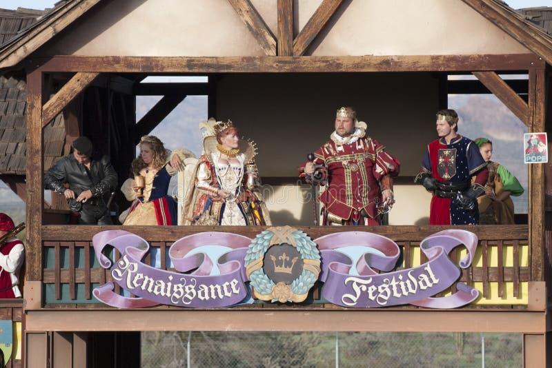 Redevance de festival de la Renaissance de l'Arizona images stock