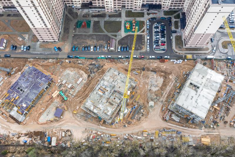 Redevelopment of city residential area royalty free stock image