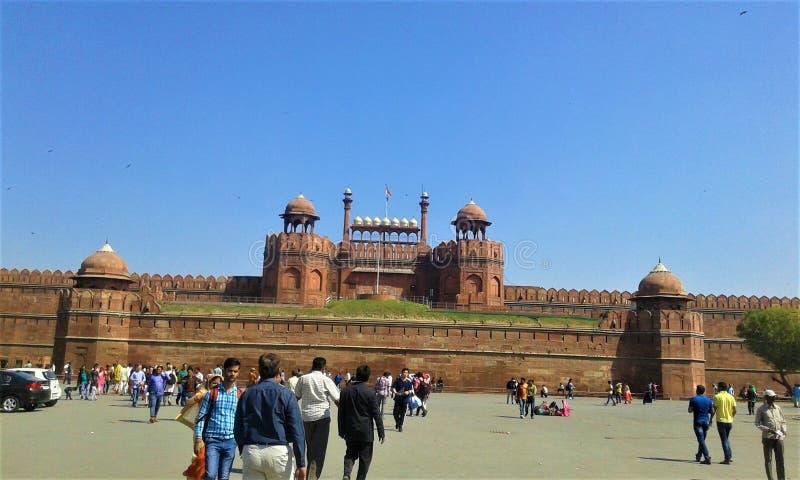 Redfort, Nuova Delhi, India fotografia stock libera da diritti