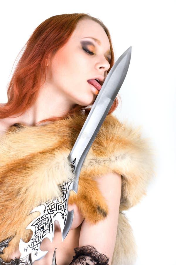 redhair性感的妇女年轻人 图库摄影