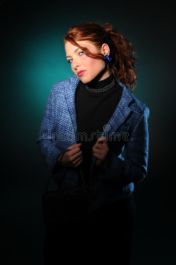 redhair νεολαίες γυναικών στοκ εικόνες