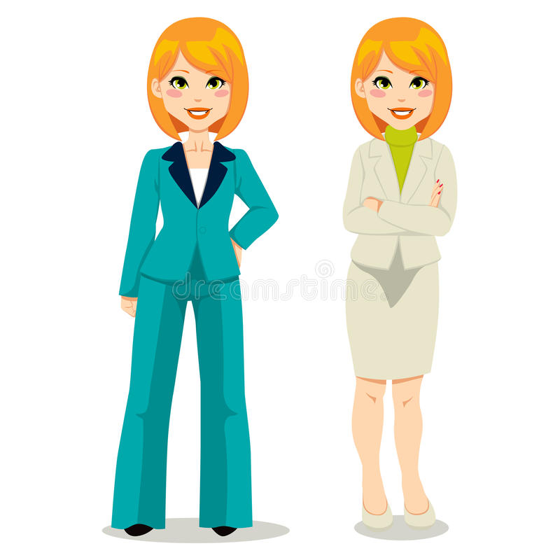 Redhair Business Woman royalty free illustration