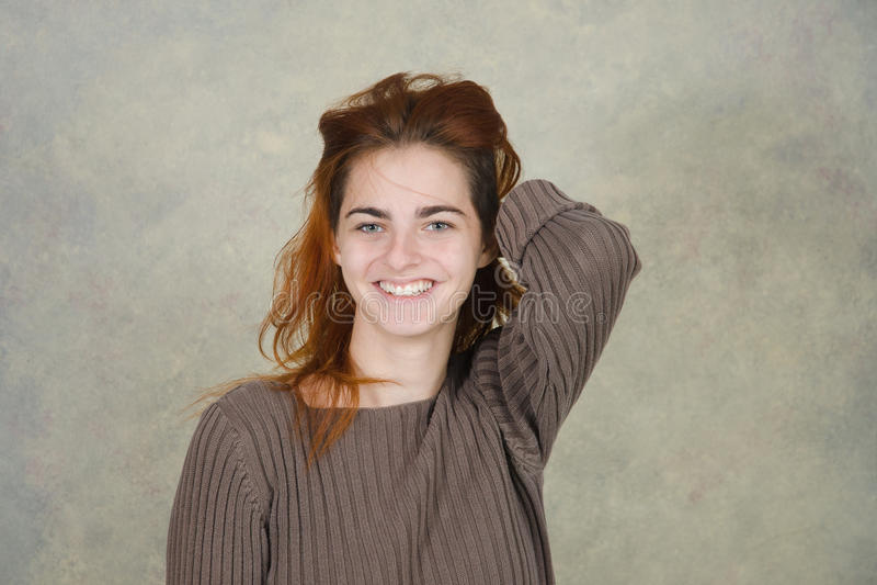 Redhair girl royalty free stock image