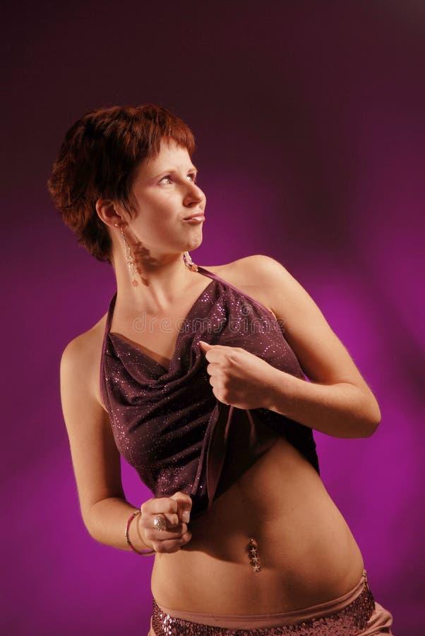 Redhair woman stock photo
