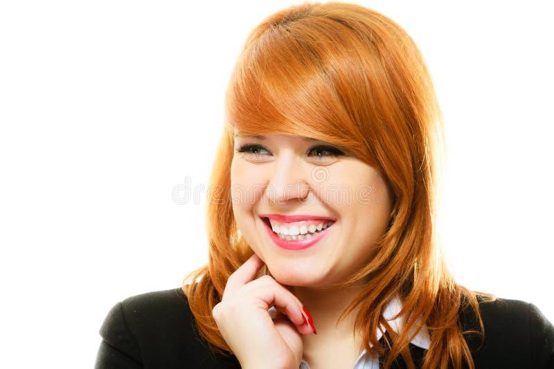 Redhaired biznesowej kobiety portret zdjęcia royalty free