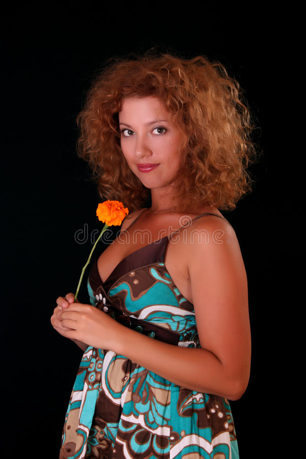 redhead γυναίκα πορτρέτου στοκ εικόνες