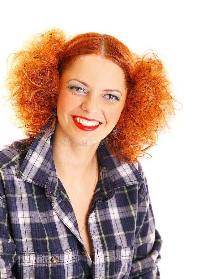 Redhead κορίτσι στοκ εικόνα