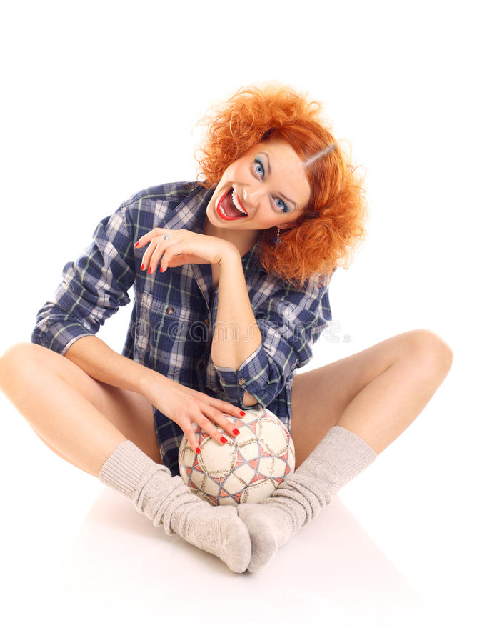 Redhead κορίτσι στοκ φωτογραφίες με δικαίωμα ελεύθερης χρήσης