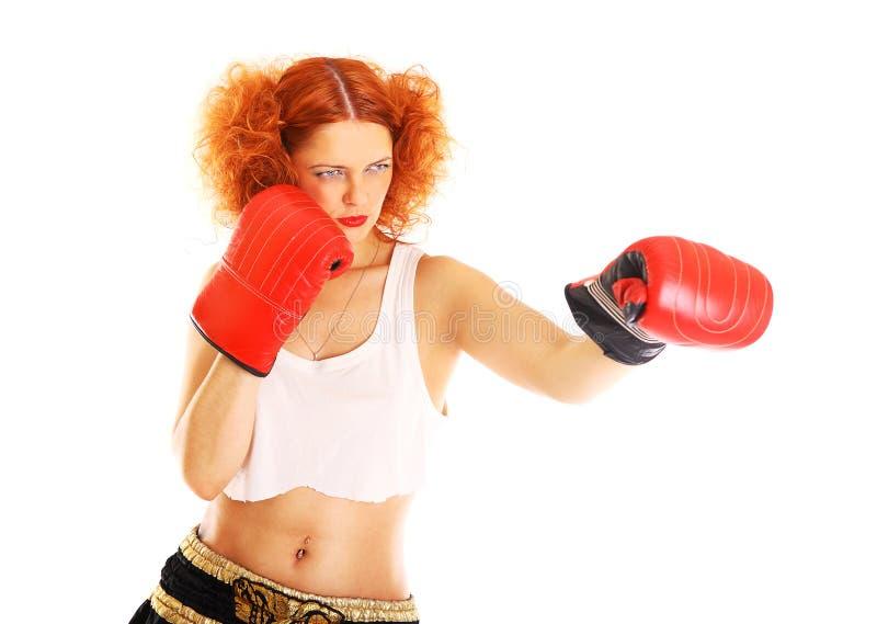 Redhead μπόξερ στοκ φωτογραφία με δικαίωμα ελεύθερης χρήσης