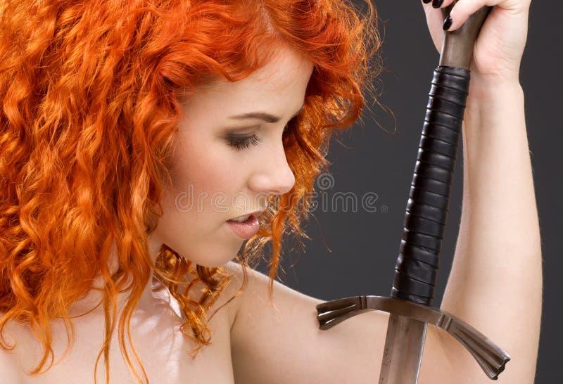 redhead πολεμιστής στοκ φωτογραφίες