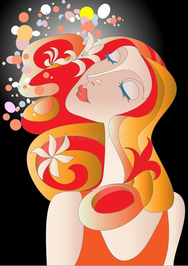 redhead девушки бесплатная иллюстрация
