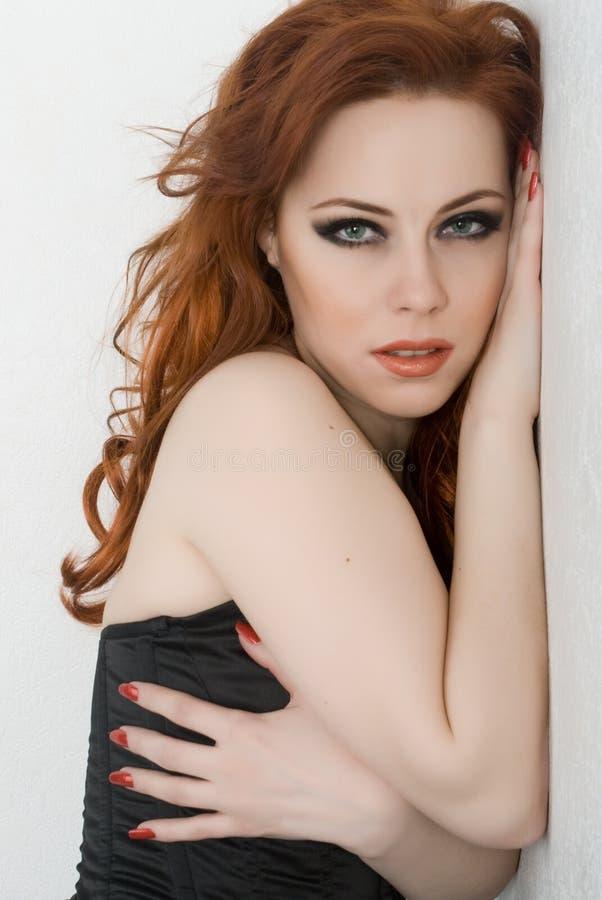 redhead красотки стоковое фото rf