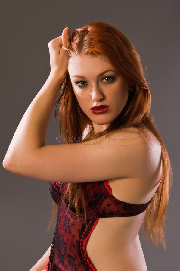 Download Redhead foto de stock. Imagem de underwear, consideravelmente - 12807060