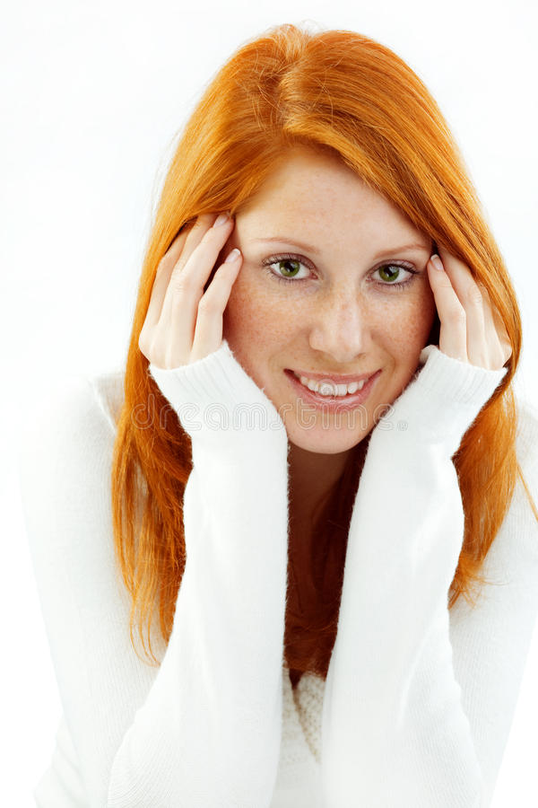Redhead agradável fotografia de stock royalty free