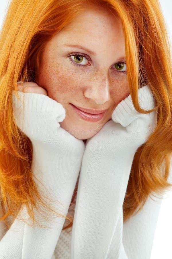 Redhead agradável fotografia de stock