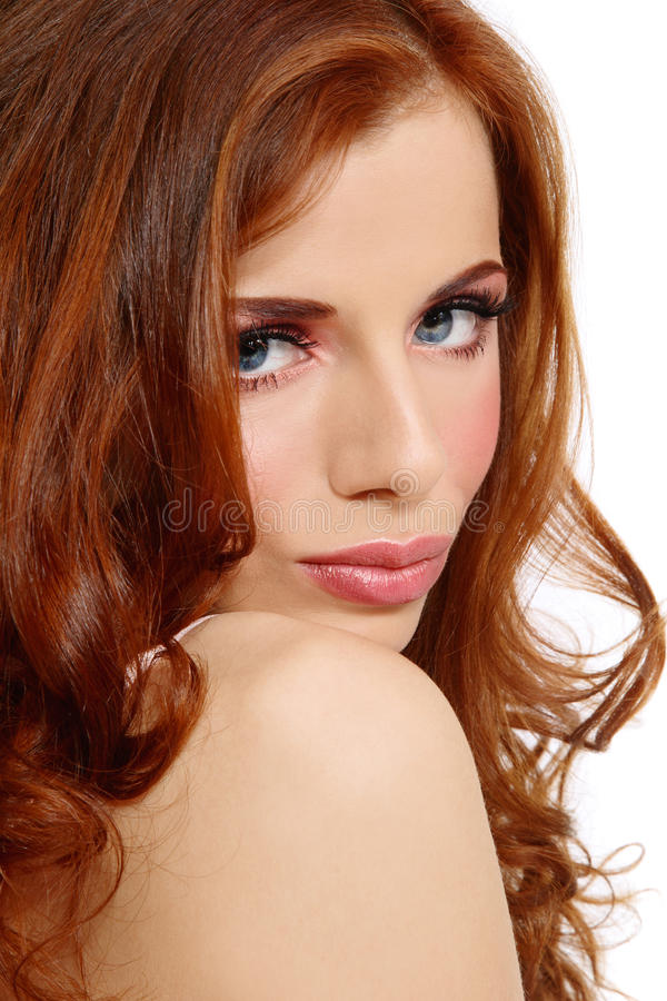 Redhead beauty stock images