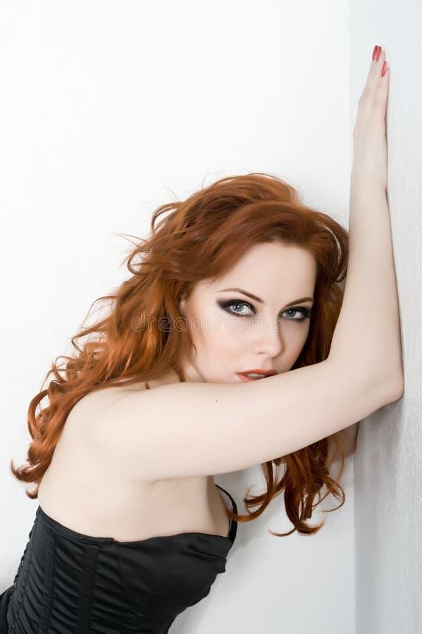 Redhead beauty stock photography