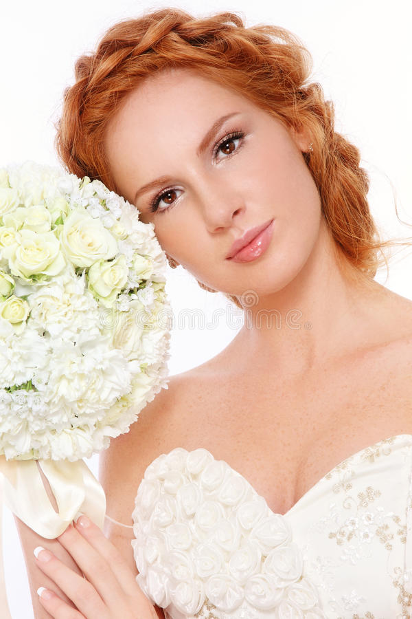 Redhead bride royalty free stock photography