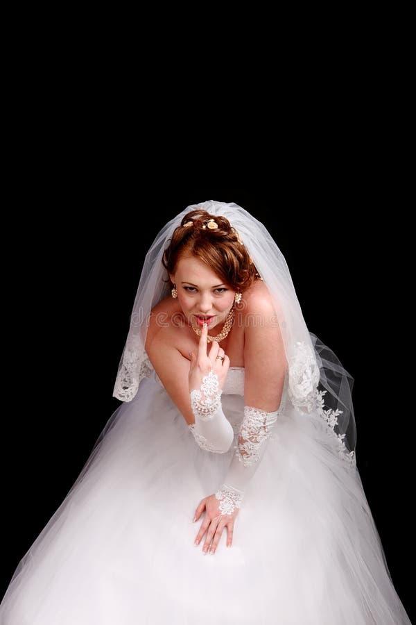 Redhead Bride In A White Dress Stock Photos