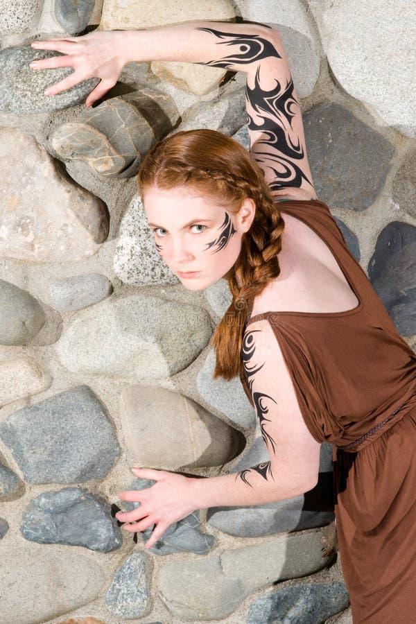 redhead celtic красотки стоковые фото