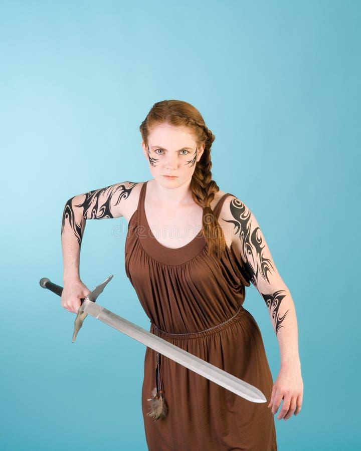 redhead celtic красотки стоковая фотография rf