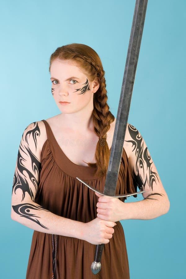 redhead celtic красотки стоковое фото rf