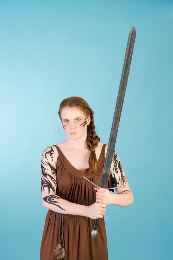 redhead celtic красотки стоковое изображение