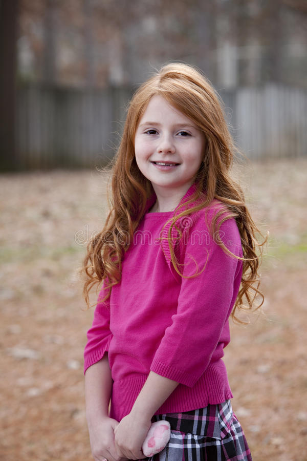 Download Redhead child outdoors stock image. Image of pretty, people - 12160927