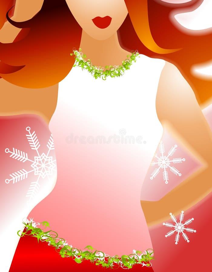 Redhead do modelo de forma do inverno ilustração royalty free