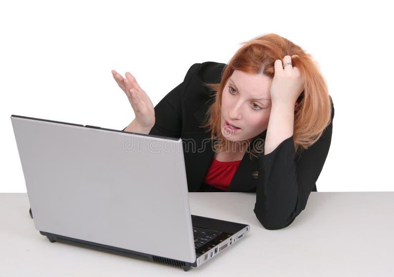 Redhead do negócio sobre o branco imagens de stock royalty free