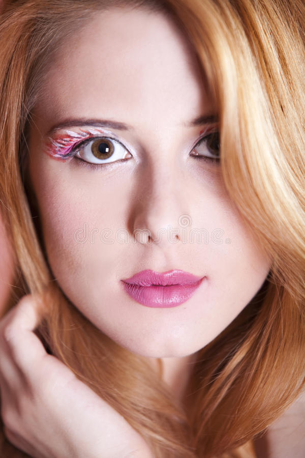 Free Redhead Girl With Style Make-up. Stock Photos - 24819693