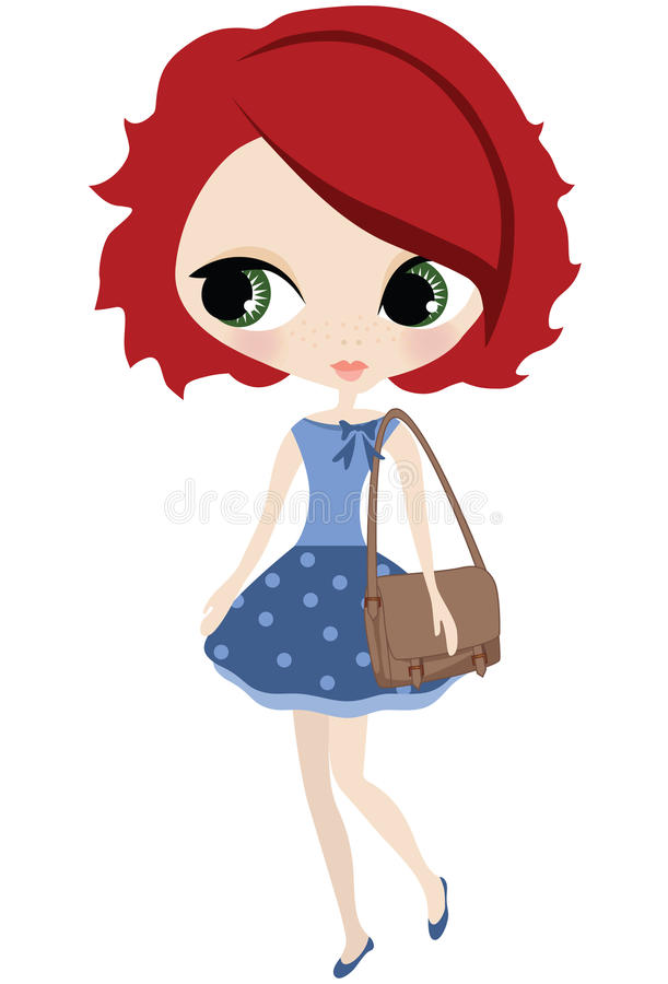 Download Redhead-Mädchen vektor abbildung. Illustration von abbildung - 27730245