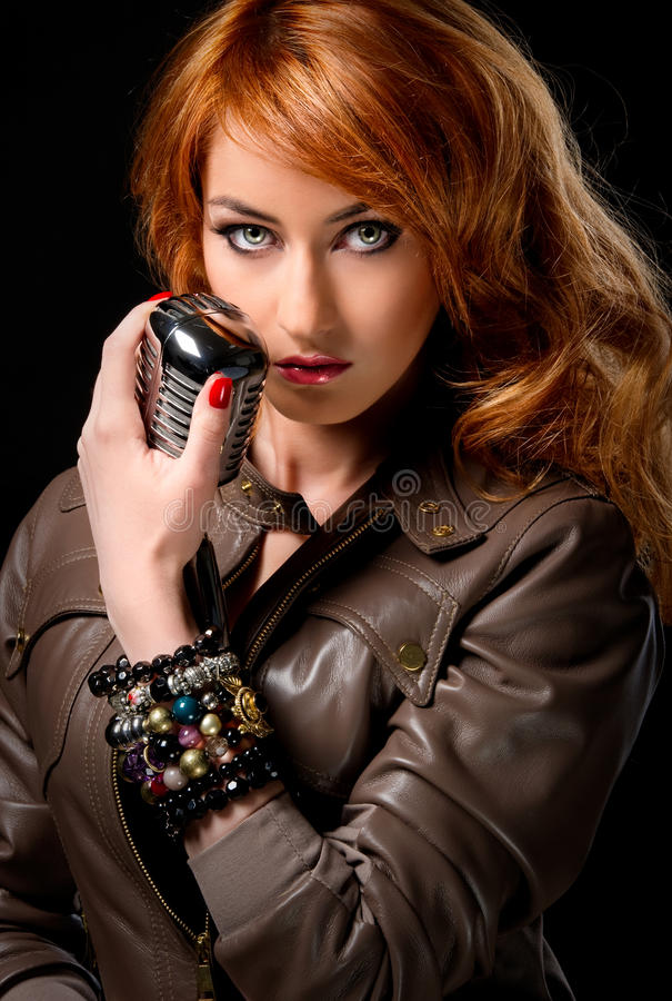 Redhead singer stock photos